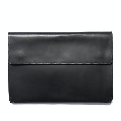 Jimena Portfolio Black | Portfolio Cases UK | La Portegna UK | Handmade Leather Goods | Vegetable Tanned Leather