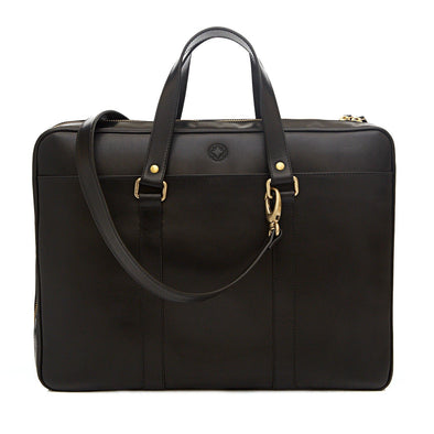 Carter Black Briefcases | La Portegna UK | Handmade Leather Goods | Vegetable Tanned Leather