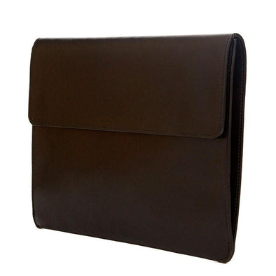 Jimena Portfolio Black Portfolio Cases | La Portegna UK | Handmade Leather Goods | Vegetable Tanned Leather