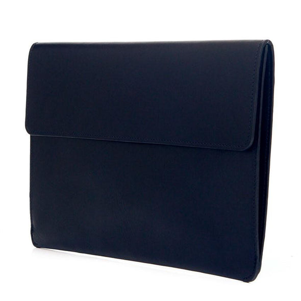 Jimena Portfolio Blue | Portfolio Cases UK | La Portegna UK | Handmade Leather Goods | Vegetable Tanned Leather