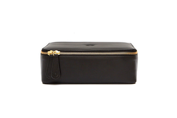 Washcase Black Washcases | La Portegna UK | Handmade Leather Goods | Vegetable Tanned Leather