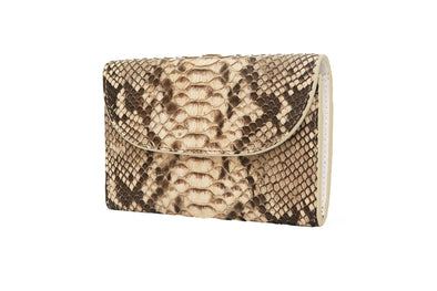 Lucia Mini Purse Python | Purses UK | La Portegna UK | Handmade Leather Goods | Vegetable Tanned Leather
