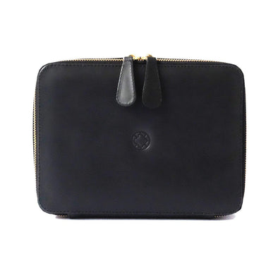 Washcase Black | Washcases UK | La Portegna UK | Handmade Leather Goods | Vegetable Tanned Leather