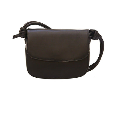 Lucia Mini Black Shoulder Bags | La Portegna UK | Handmade Leather Goods | Vegetable Tanned Leather