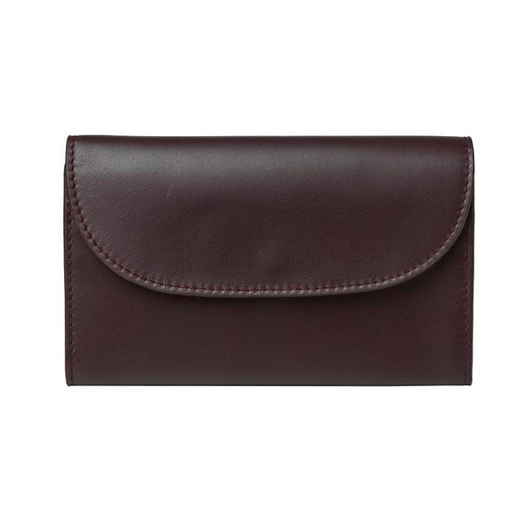 Lucia Mini Purse Burgundy & Petrol | Purses UK | La Portegna UK | Handmade Leather Goods | Vegetable Tanned Leather