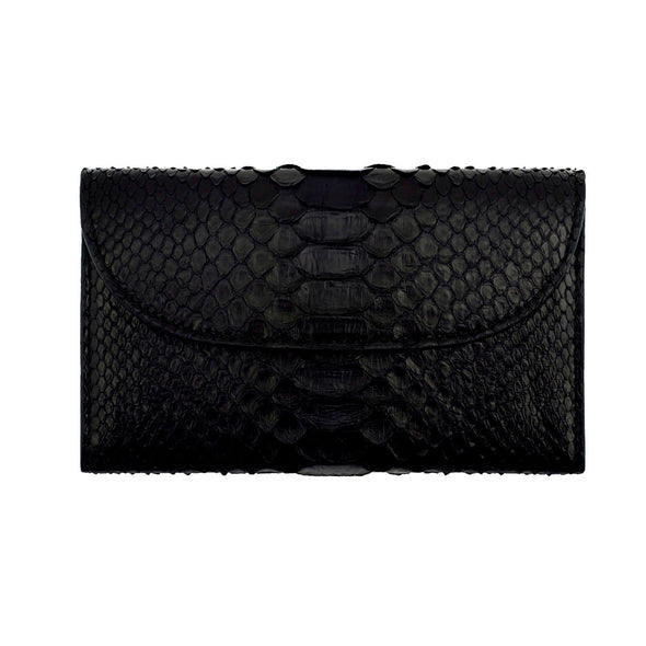 Lucia Mini Purse Python Black