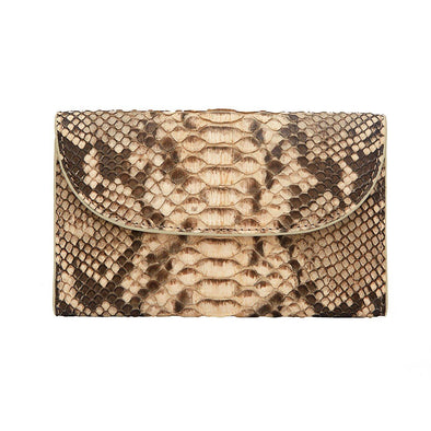 Lucia Mini Purse Python Purses | La Portegna UK | Handmade Leather Goods | Vegetable Tanned Leather
