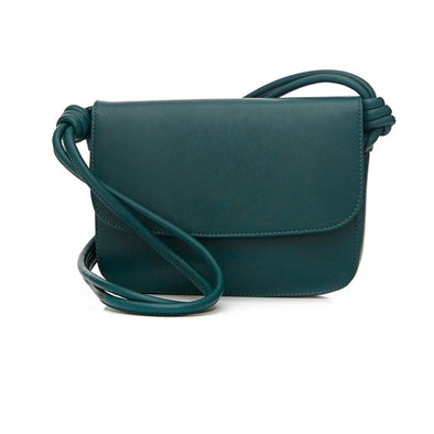 Lucia Petrol Shoulder Bags | La Portegna UK | Handmade Leather Goods | Vegetable Tanned Leather