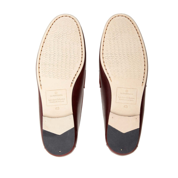 Moccasin Slippers | Mens Shoes | Marco Bordeaux - Leather Sole Shoes