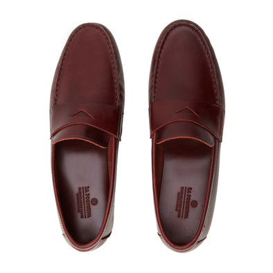 Marco Bordeaux Moccasins | La Portegna UK | Handmade Leather Goods | Vegetable Tanned Leather