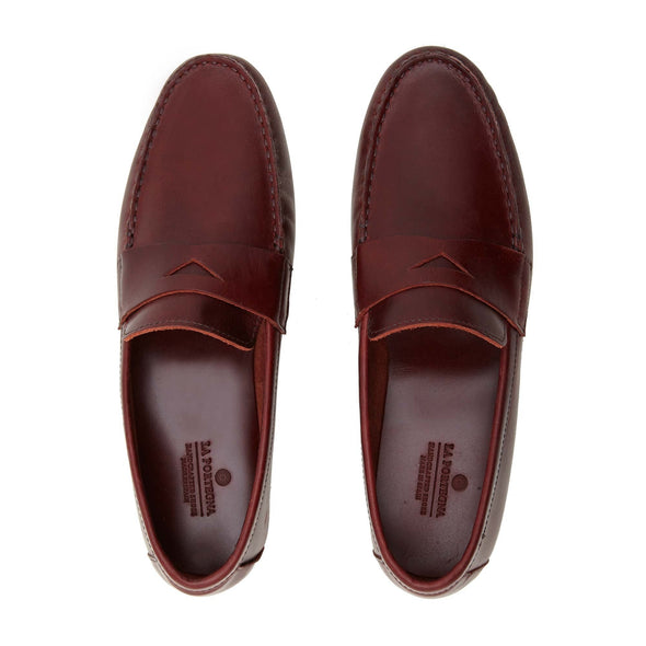 Moccasin Slippers | Mens Shoes | Marco Bordeaux - Top View