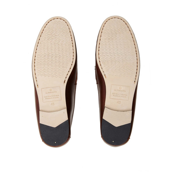Moccasin Slippers | Mens Shoes | Marco Brown - Leather Sole Shoes