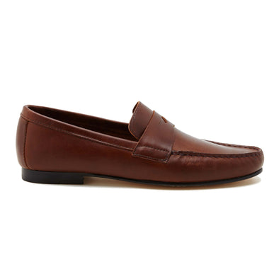 Moccasin Slippers | Mens Shoes | Marco Brown - Side