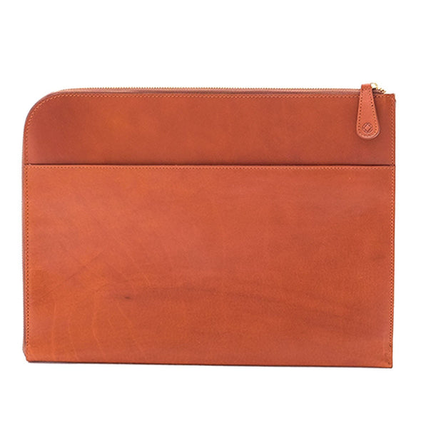 Leather Portfolio | Mendocino Sol & Brown - Back