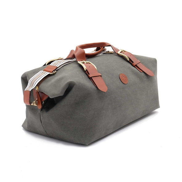 Leather Duffle Bag | Mick Olive Green 6