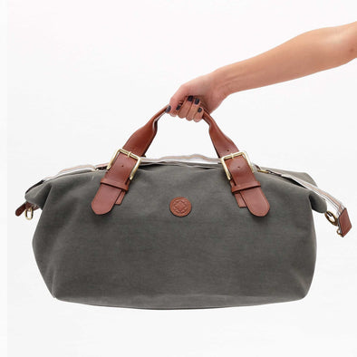Leather Duffle Bag | Mick Olive Green 3