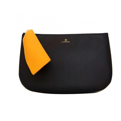 Marta Clutch Large Navy Leather | Handbags UK | La Portegna UK | Handmade Leather Goods | Vegetable Tanned Leather