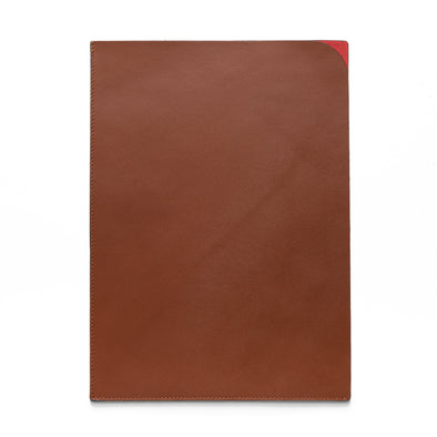 Document Holder Red | UK | La Portegna UK | Handmade Leather Goods | Vegetable Tanned Leather