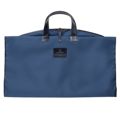 Borja Suit Holder Navy | La Portegna UK | Handmade Leather Goods | Vegetable Tanned Leather