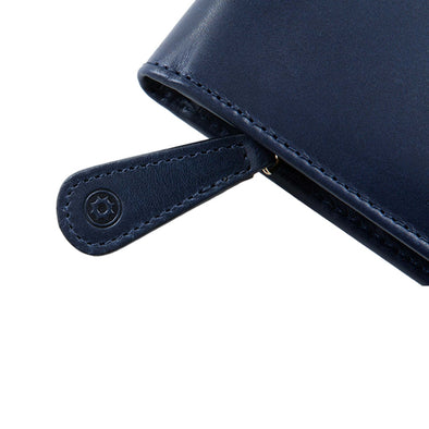Leather Portfolio | Pablo Navy - Zip Close