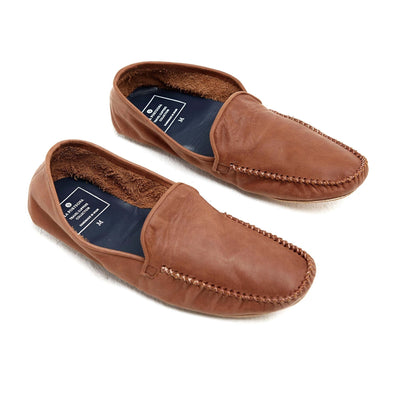 Leather Sole Shoes | Moccasin Slippers | Rodrigo Brown Shoes