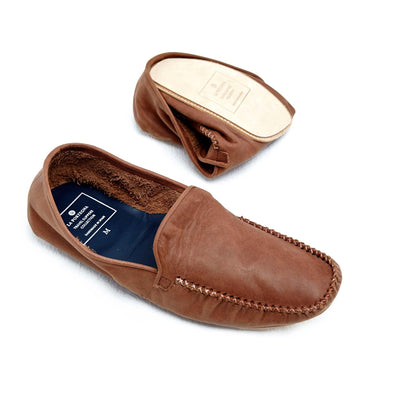Leather Sole Shoes | Moccasin Slippers | Rodrigo Brown