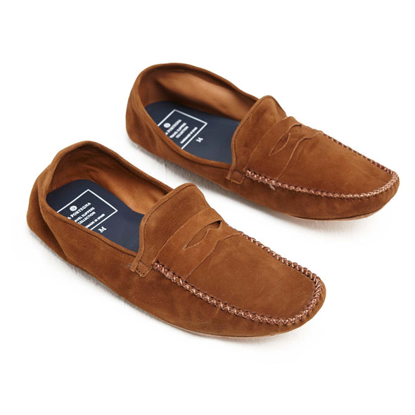 Leather Sole Shoes | Moccasin Slippers | Rodrigo Suede Tan Shoes