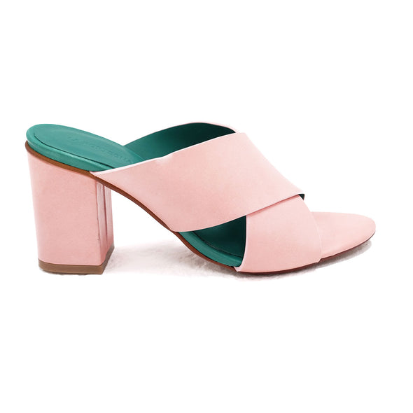 Sofia Pink | Mules UK | La Portegna UK | Handmade Leather Goods | Vegetable Tanned Leather