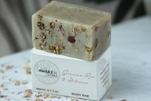 Geranium - Rose & Hibiscus Body Bar