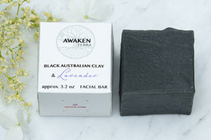 Black Australian Clay & Lavender Facial Bar