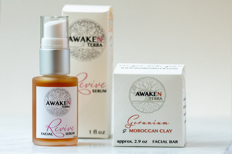 Revive & Geranium/MoroccanClay Facial Combo Set
