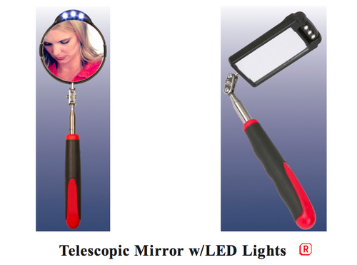 Kinsman Enterprises Telescopic Mirror w/LED Lights