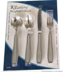 Kinsman KEatlery Weighted Utensils, High polished 18/0 stainless steel 7.2 oz ea