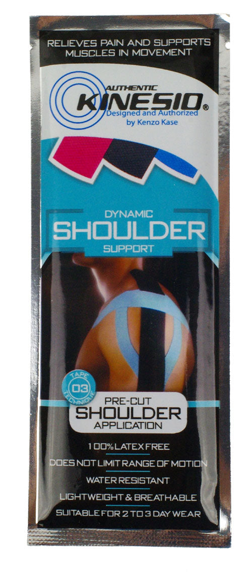 Kinesio Tex Pre-Cut Application - Latex-Free, Water-Resistant