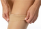 JOBST Relief Silicone Compression Thigh High, 15-20 mmHg Open Toe, Beige