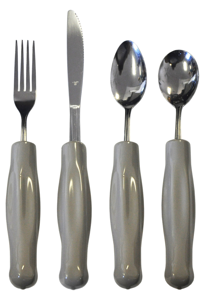 Kinsman Adult Weighted Utensils - Gray, 8 oz, Plastisol Coated Options