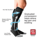 Mueller Sports Medicine Compression and Recovery Socks, 20-30 mmHg, Black