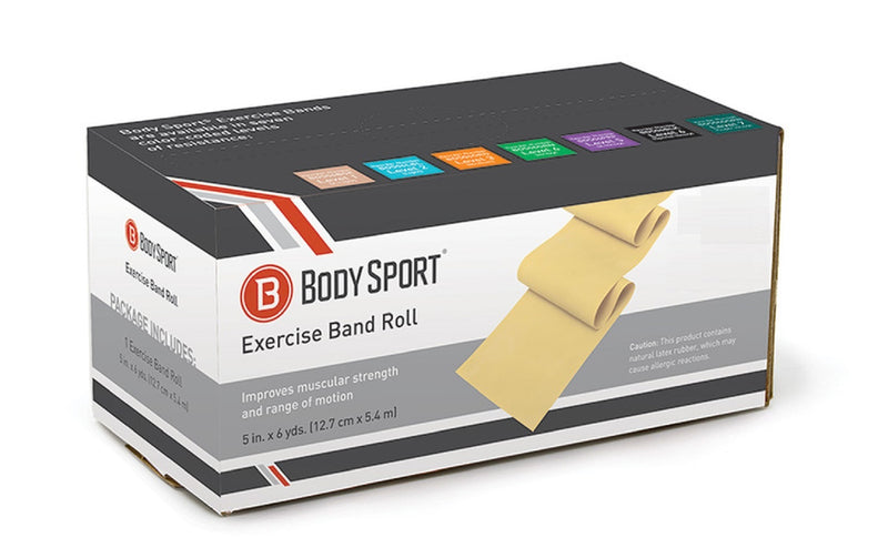 Body Sport Bulk Exercise Bands - 6 yd. Roll