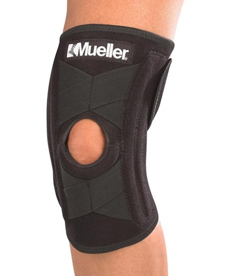 Mueller Sports Medicine Self Adjusting Knee Stabilizer, Black, OSFM 6463