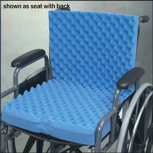 Hermell Eggcrate Wheelchair Cushion with or w/o Seat Back, Blue