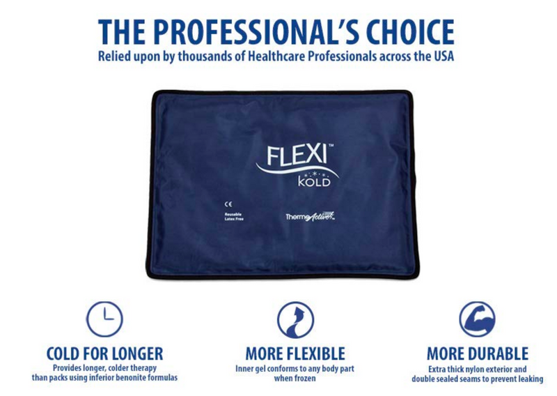 FlexiKold Gel Reusable Cold Pack Compress Therapy for Pain, Neck, Back, Shoulder