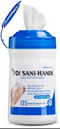 "PDI Sani-Hands ALC Antimicrobial Alcohol Gel Hand Wipes 6"" x 7.5"", 135 count"