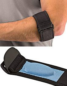 Mueller Tennis Elbow Adjustable Support Strap with Gel Pad, Black, OSFM