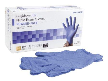 McKesson Confiderm¨ 3.5C Powder-Free NonSterile Nitrile Exam Glove
