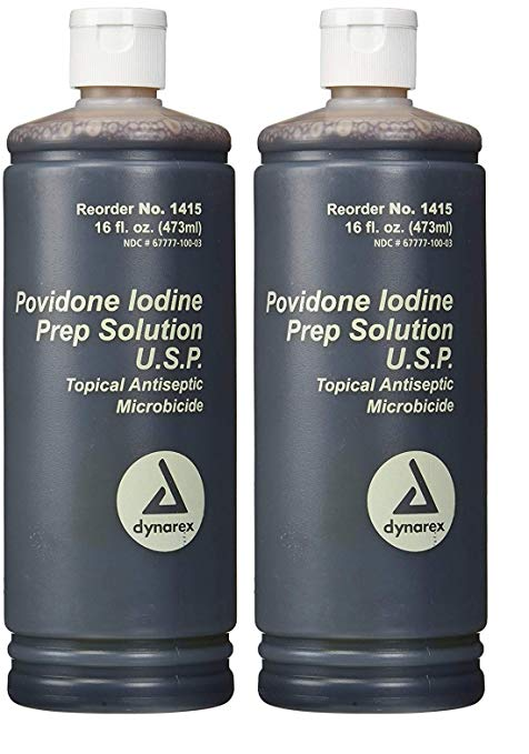Povidone Iodine Prep Solution USP, 16 Fluid Ounce