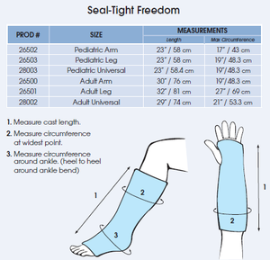 Seal Tight Freedom Universal Cast and Bandage Protector