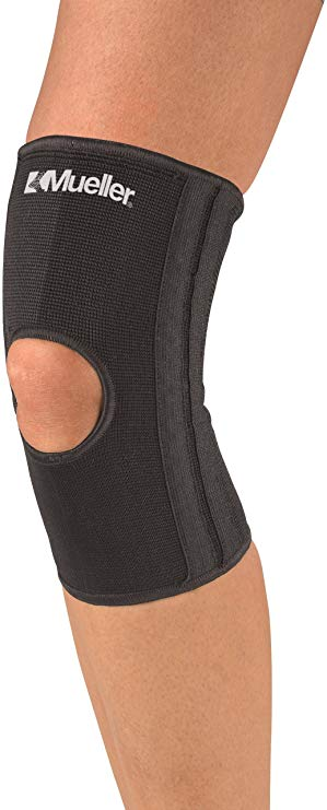 Mueller Knee Stabilizer Elastic, Open Patella Latex Free Black - SM/MD or LG/XL
