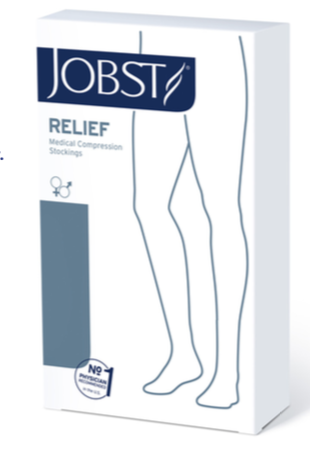 JOBST Relief Compression Knee High, 20-30 mmHg Closed Toe