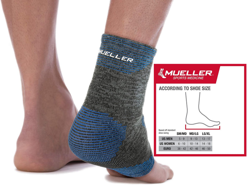 Mueller 4-Way Stretch Premium Knit Ankle Support