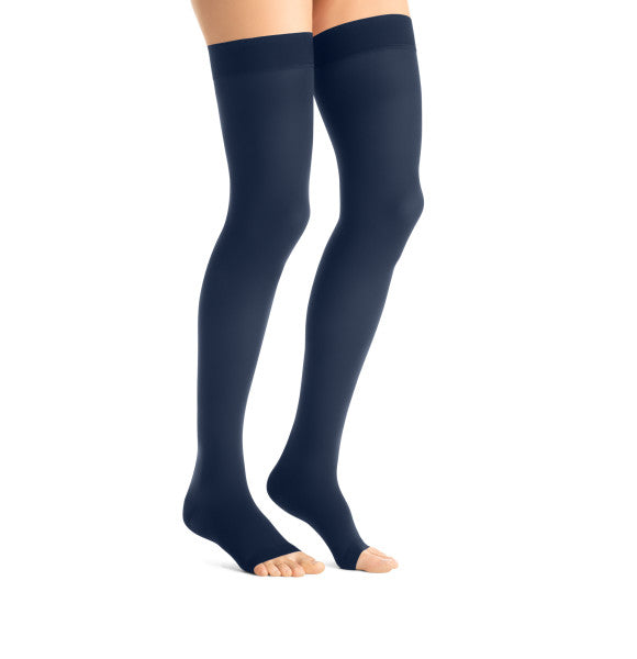JOBST® Maternity Opaque Thigh High Compression Stockings, 15-20 mmHg, Open Toe